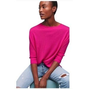 Anthropologie pink wool dolman sleeve sweater
